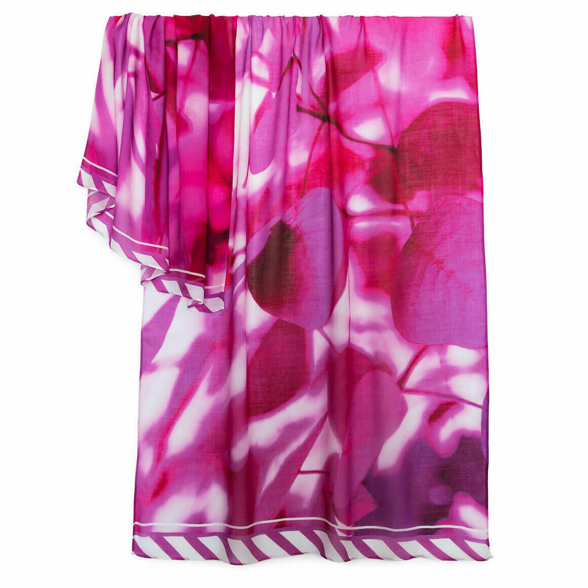 Leaves of Hot Pink Scarf   Trada Marketplace