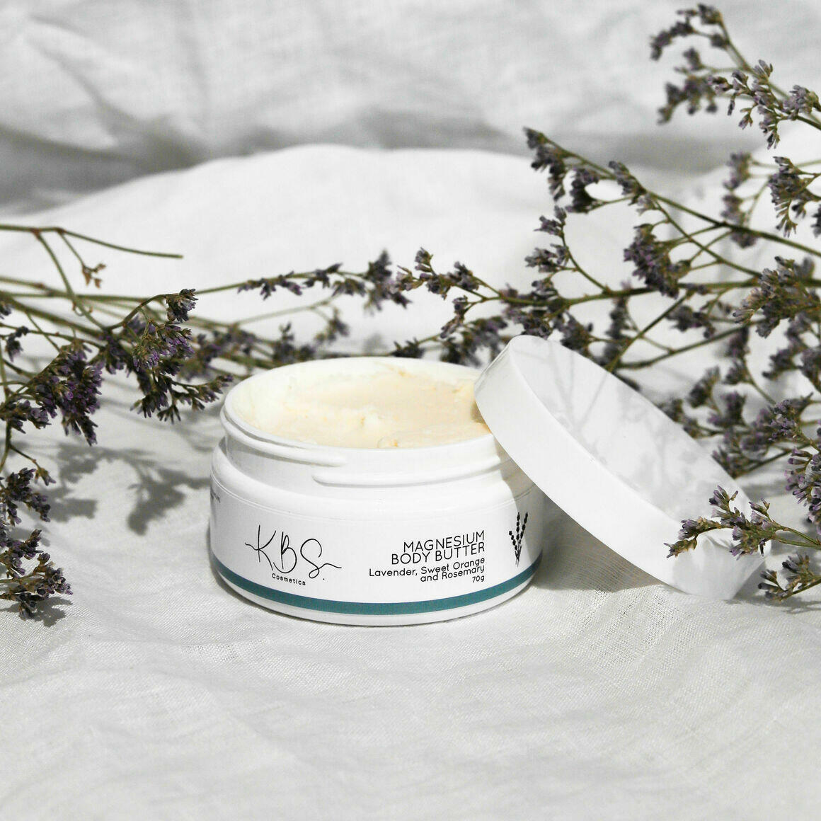 Magnesium Body Butter - Lavender, Sweet Orange and Rosemary   Trada Marketplace