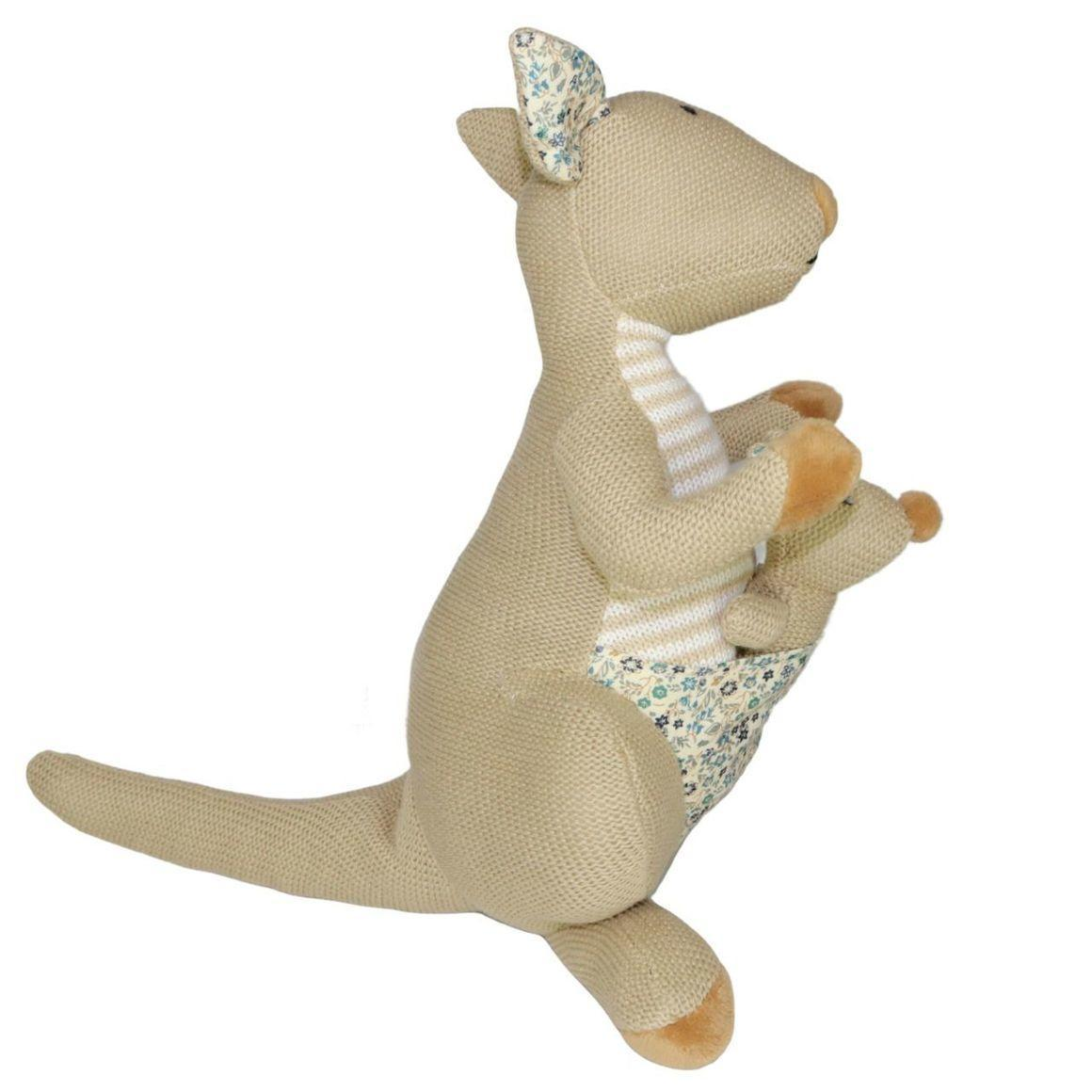 Plush Toy Kangaroo & Baby Joey - Brown   Trada Marketplace