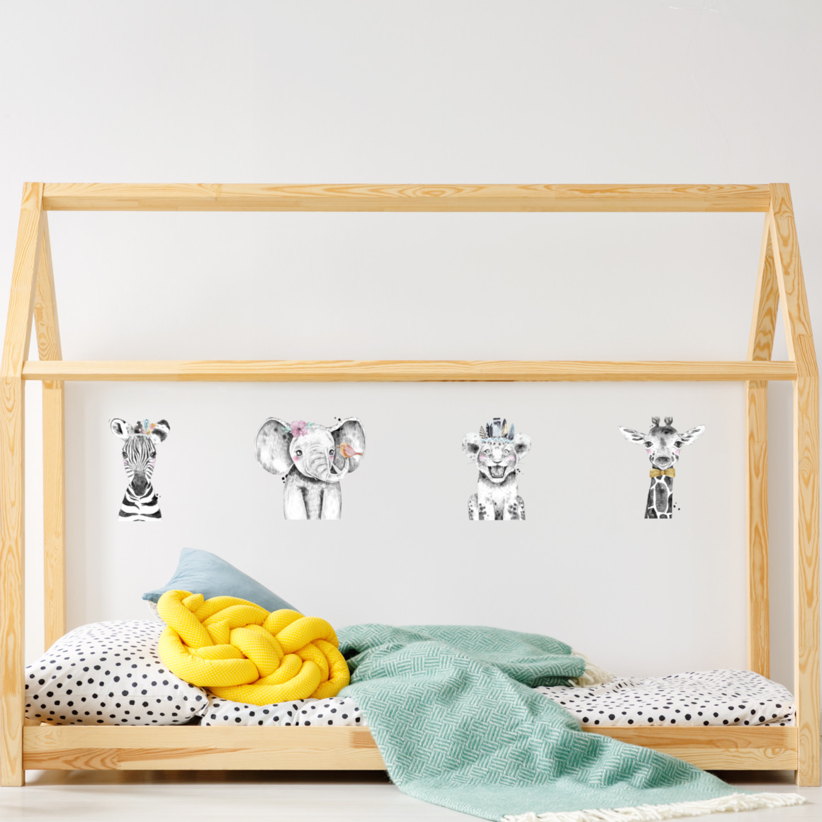Fabric wall decals - Safari babies   Trada Marketplace