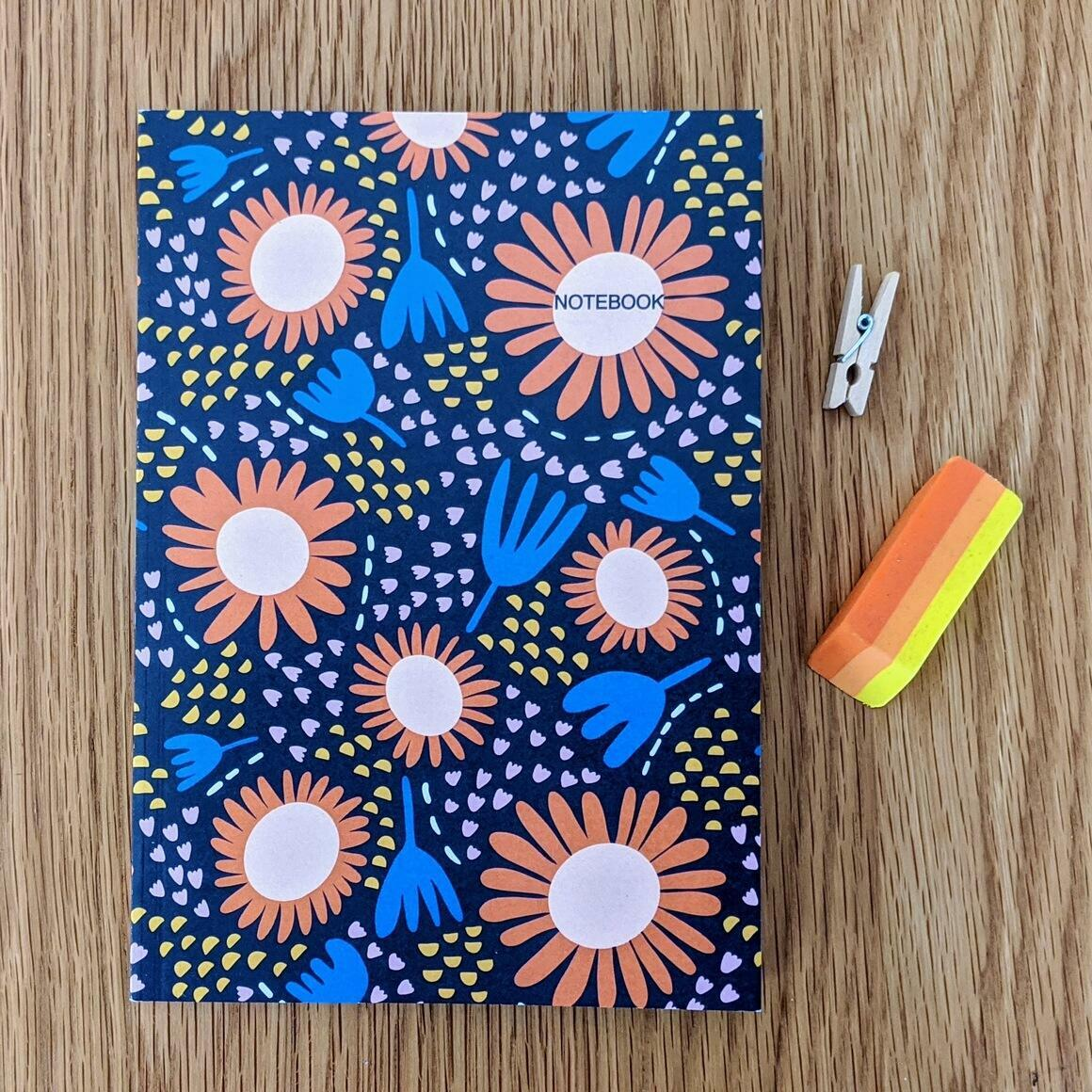 Happy Flowers A5 Notebook   Trada Marketplace