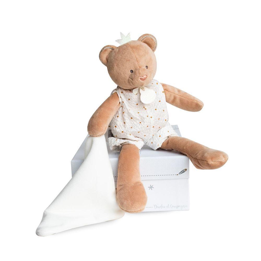 bear doll with doudou 28cm + gift box   Trada Marketplace
