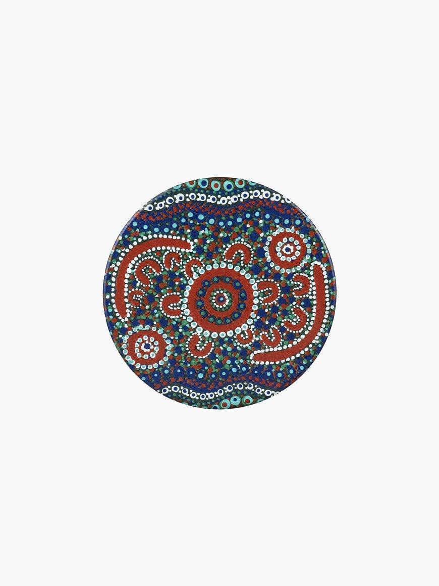 Aboriginal Finke River Ceramic Coaster | Trada Marketplace