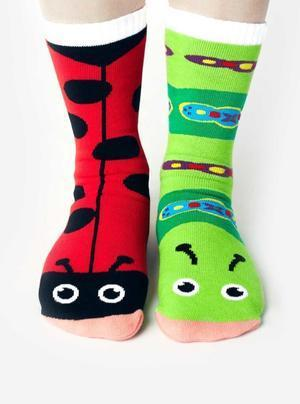 Ladybug & Caterpillar   Kids Collectible Mismatched Socks   Trada Marketplace