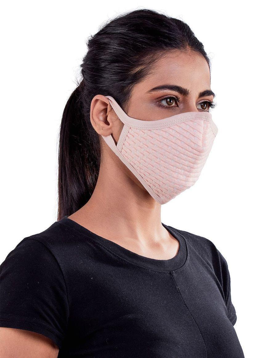 Small-dots-jacquard-three-layer-cotton-womens-mask | Trada Marketplace