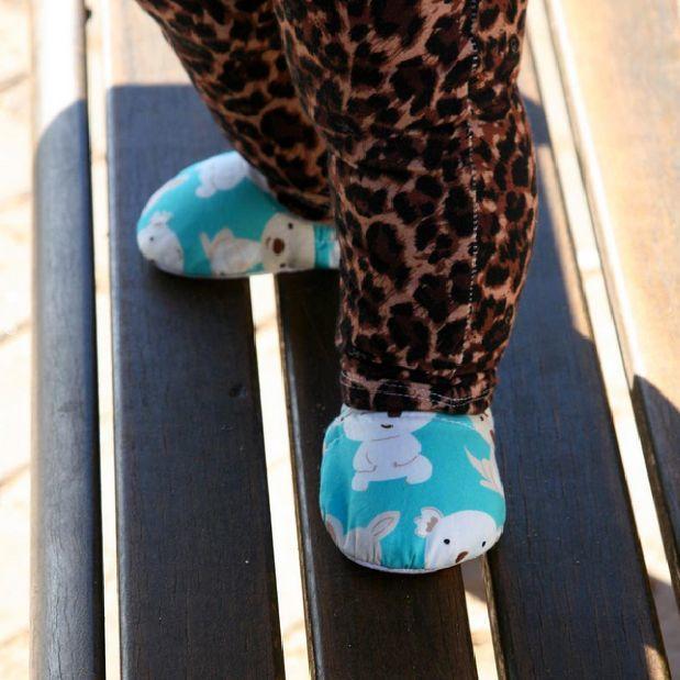 Aqua Koala & Kangaroo Baby Booties | Trada Marketplace