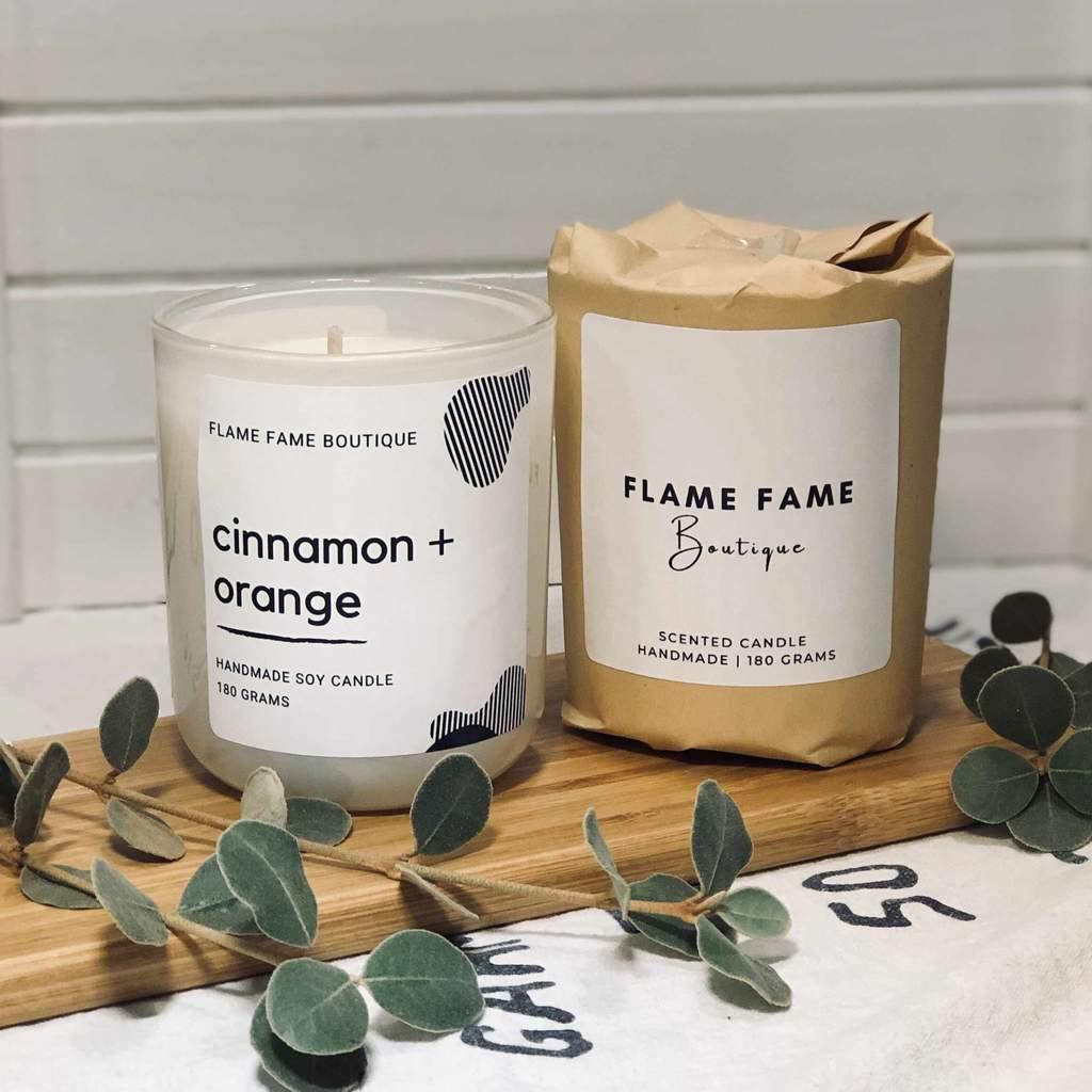 cinnamon orange Candle Jar   Trada Marketplace