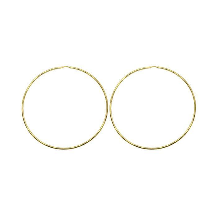 70mm Sterling Silver Gypsy Hoop Earrings - Silver, Gold and Rose gold  | Trada Marketplace