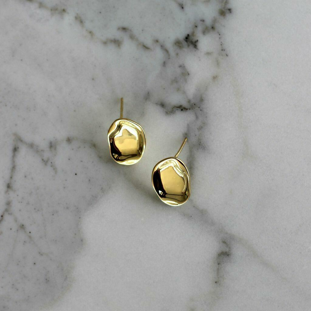Oracle Stud Earring (Gold) | Trada Marketplace