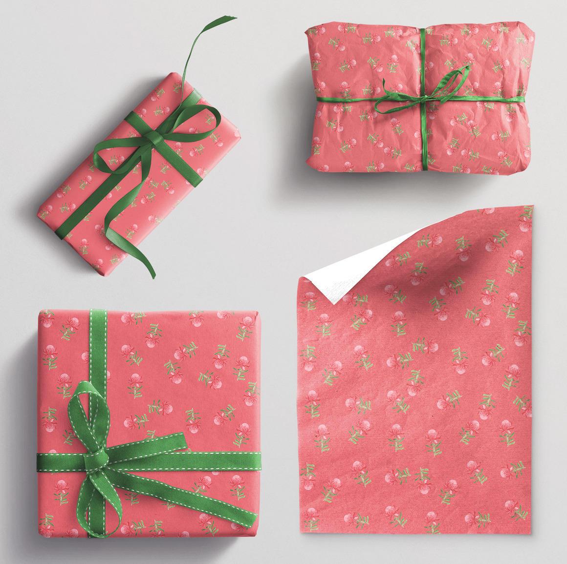 Wrapping paper single sheet Waratah | Trada Marketplace