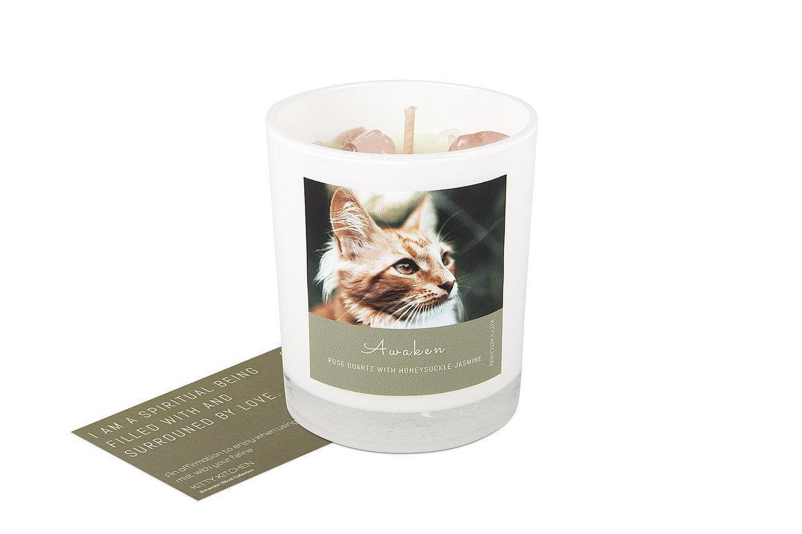Awaken Ritual Candle - Rose Quartz with Honeysuckle Jasmine   Trada Marketplace