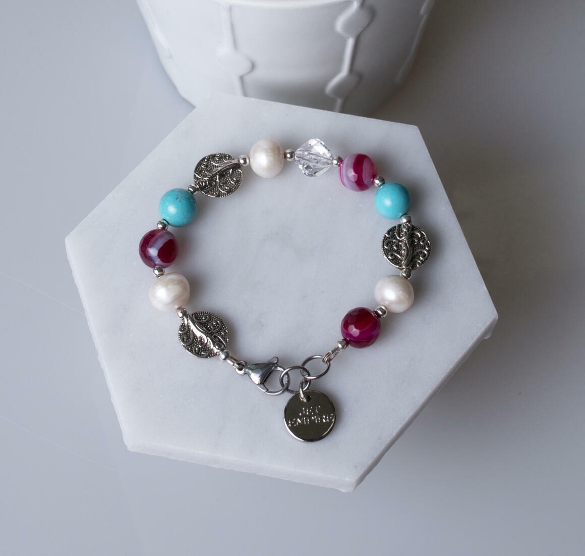 Drift Away - Pink and Turquoise | Trada Marketplace