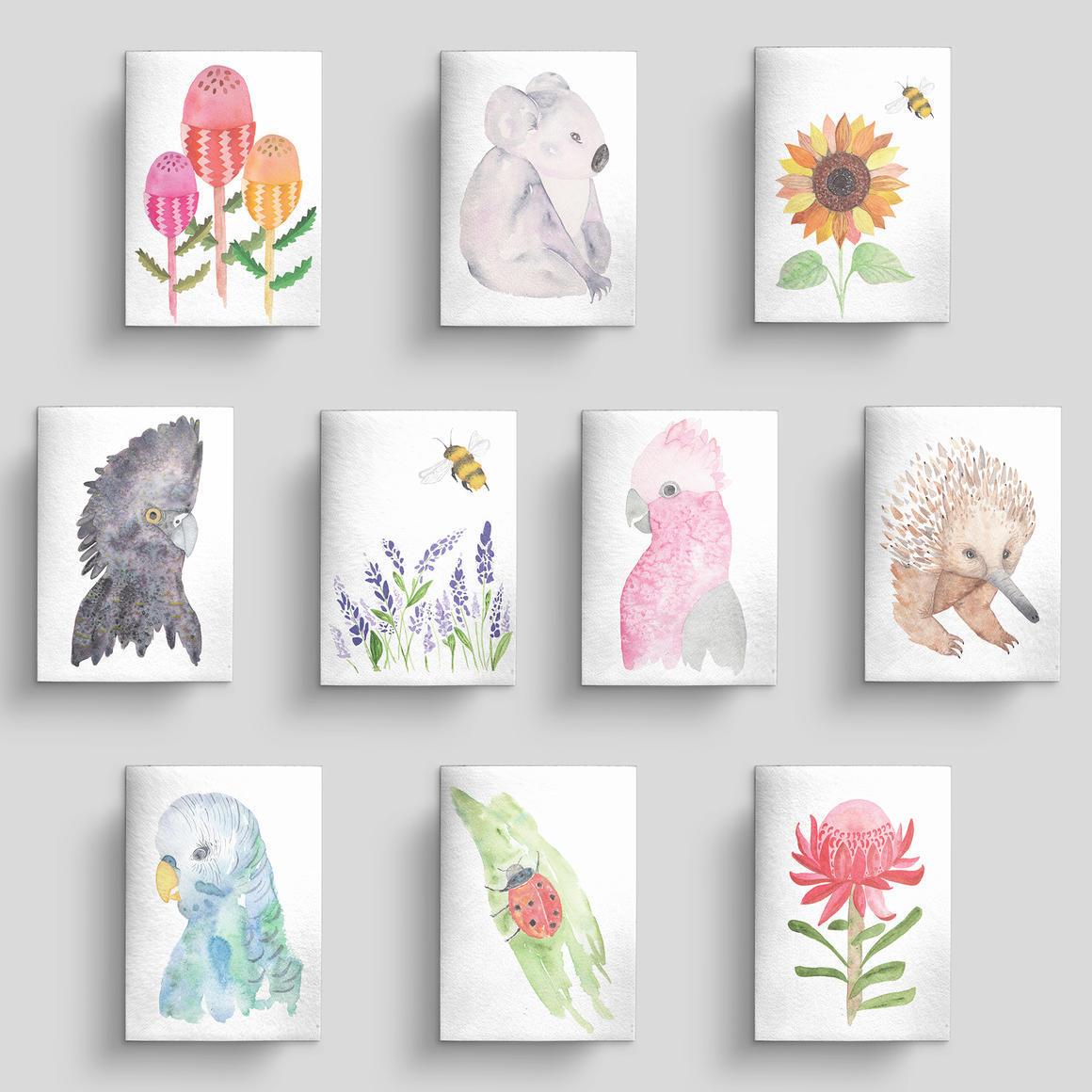Greeting card 10 pack Flora and Fauna | Trada Marketplace