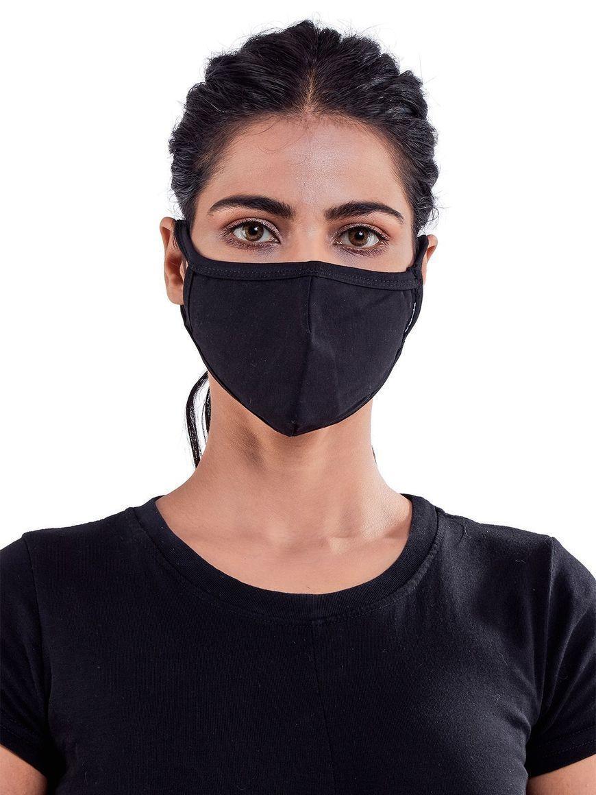 Black-jersey-cotton-three-layer-womens-mask | Trada Marketplace