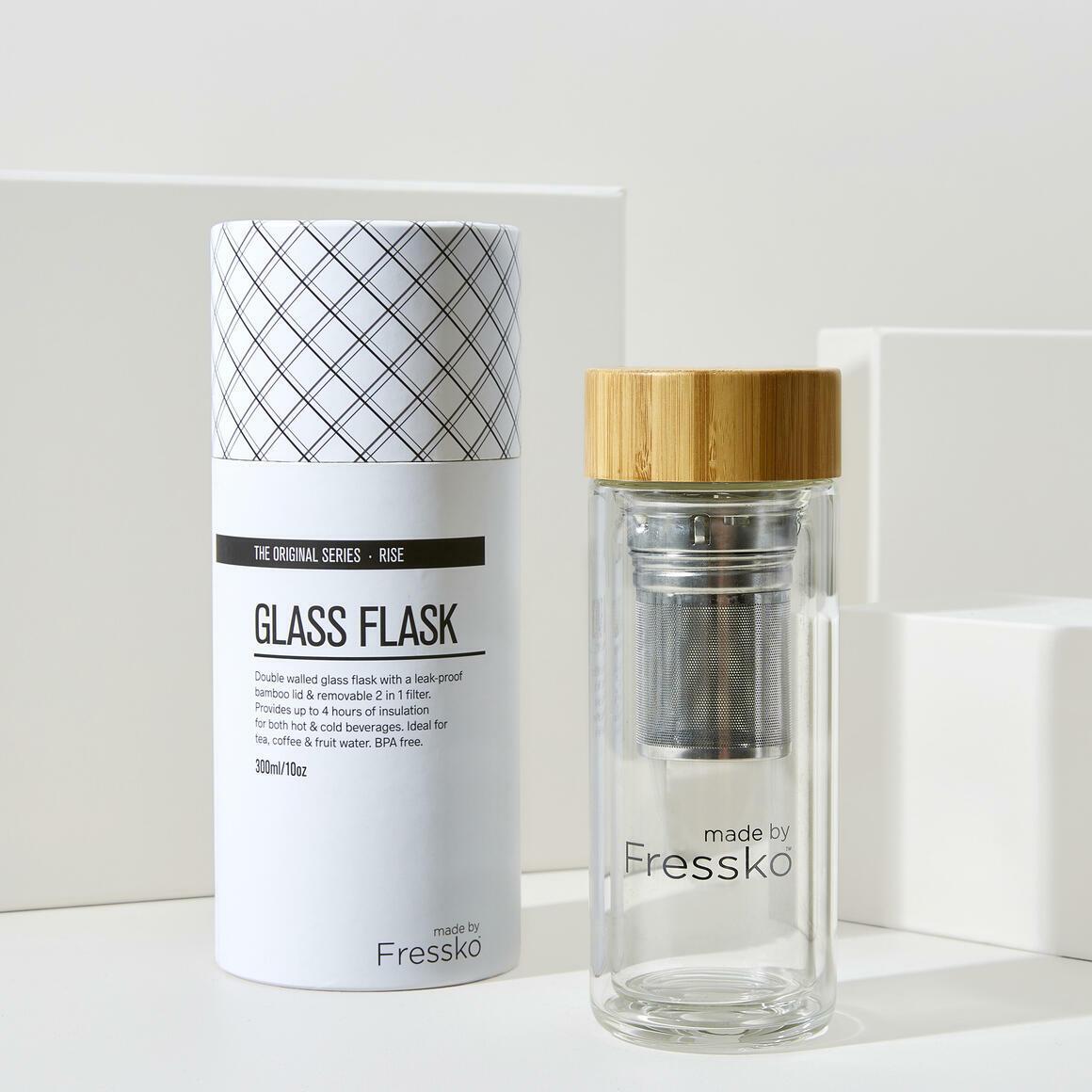 Fressko RISE 300ml Glass Flask + 2 in 1 infuser | Trada Marketplace