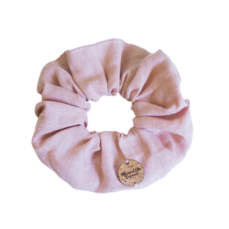Blush   Linen Scrunchie   Trada Marketplace