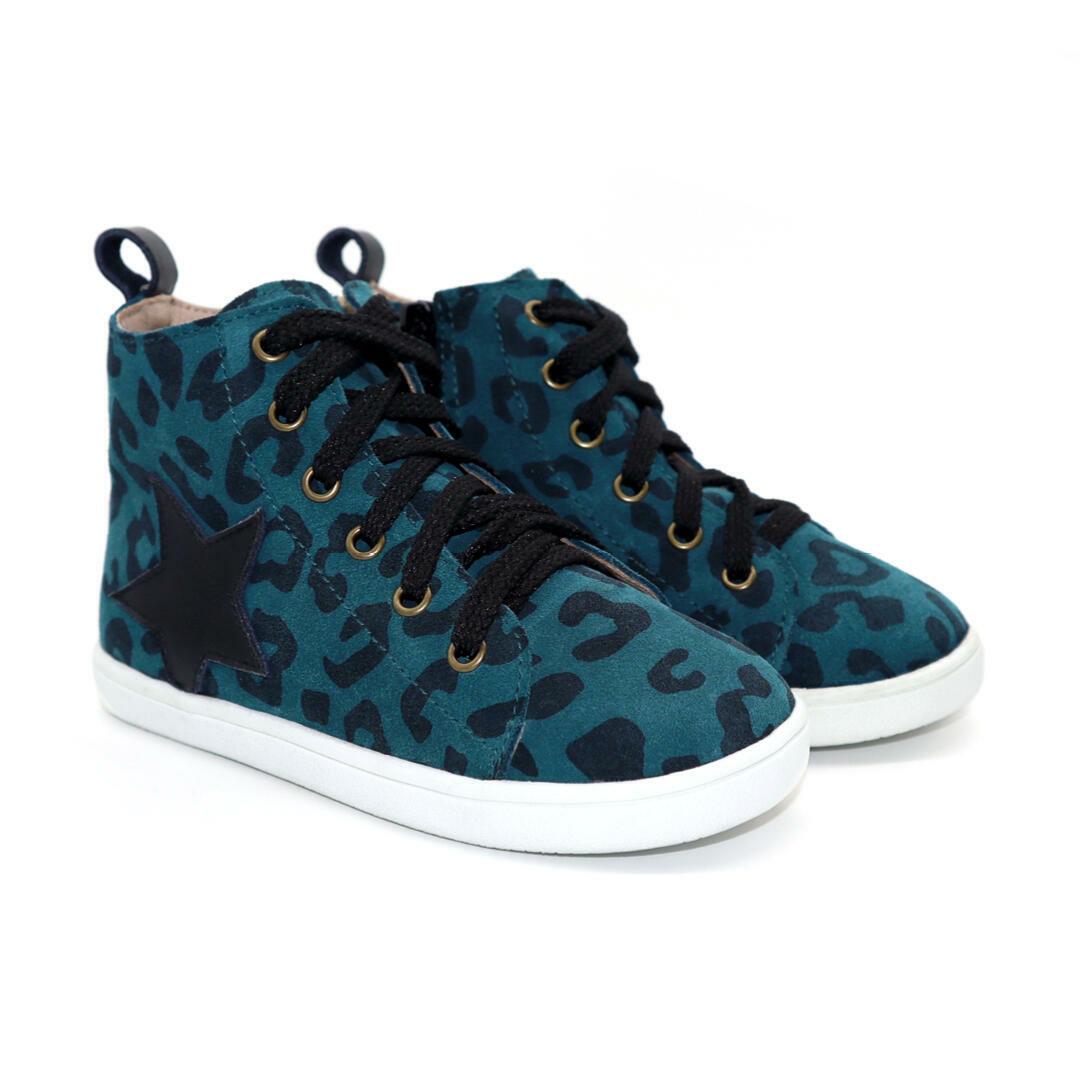 Seren Child hightop boot - Green Leopard | Trada Marketplace