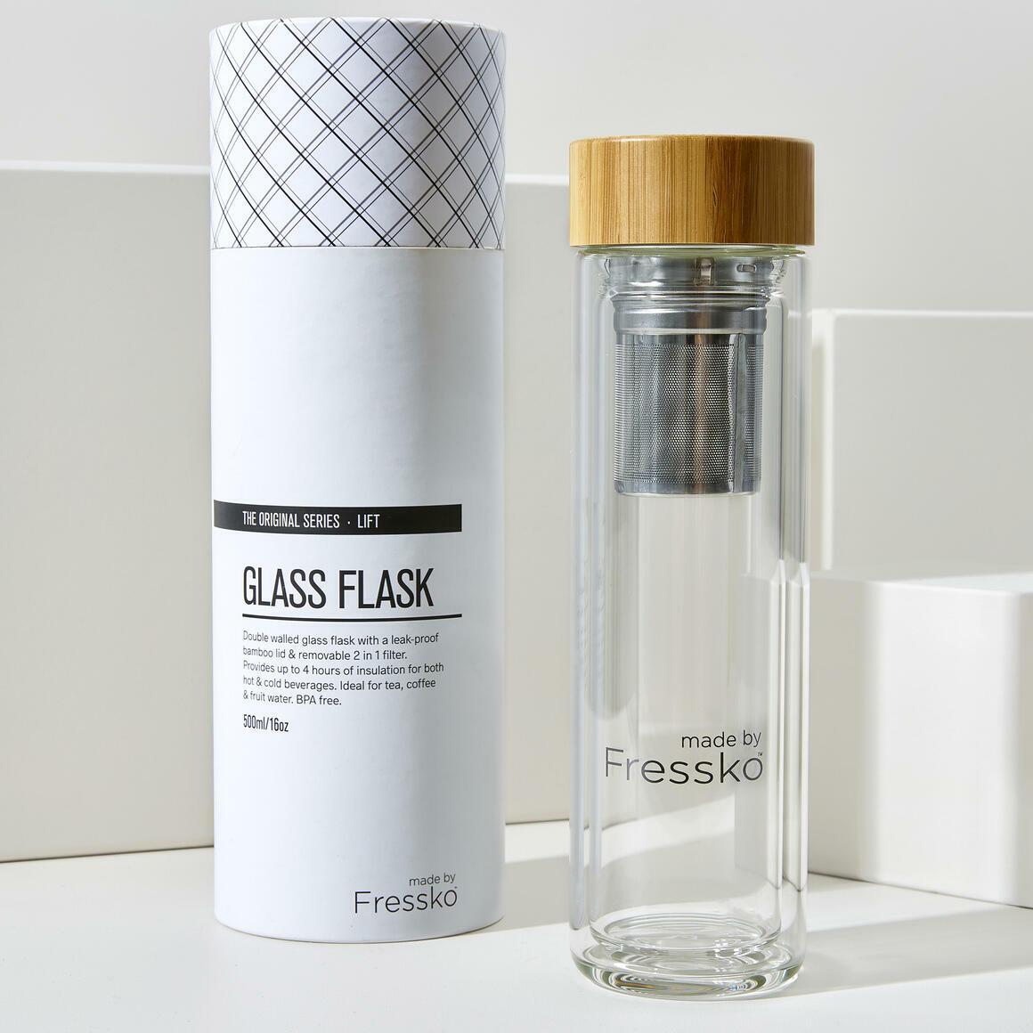 Fressko LIFT 500ml  Glass Flask + 2 in 1 infuser | Trada Marketplace