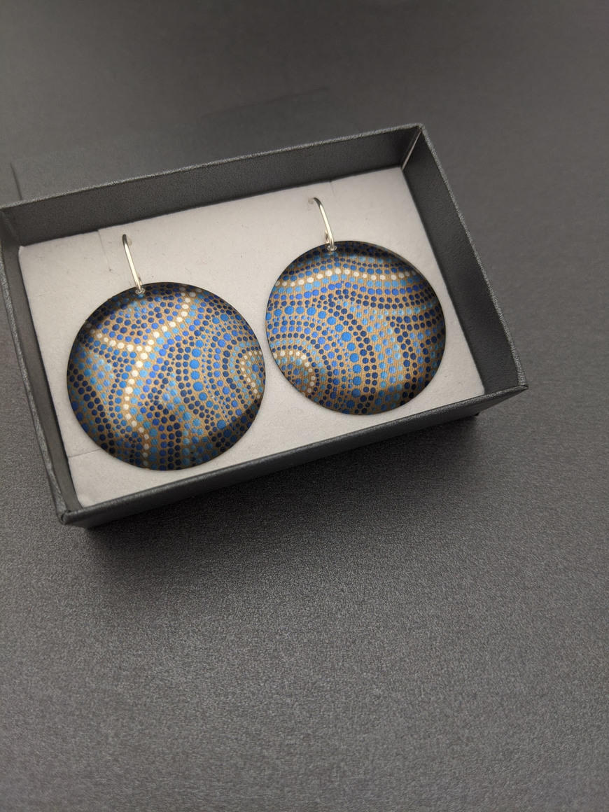 A SOURCE OF LIFE – large domed earrings   Trada Marketplace