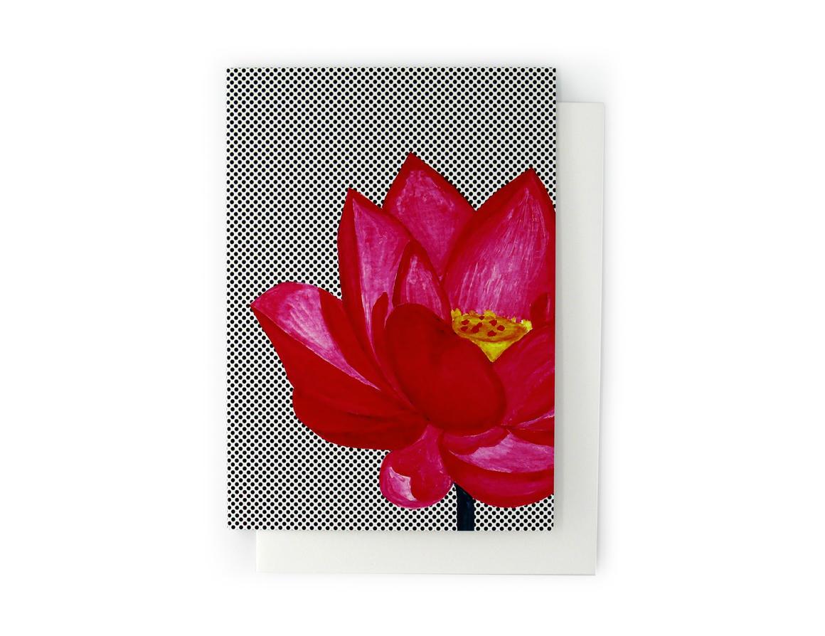 LOTUS FLOWER Artisan Greeting Card | Trada Marketplace