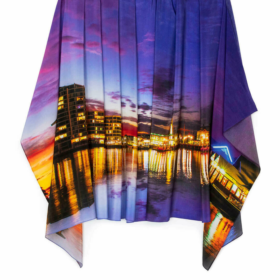 Dusk on the Inlet Silk Scarf   Trada Marketplace
