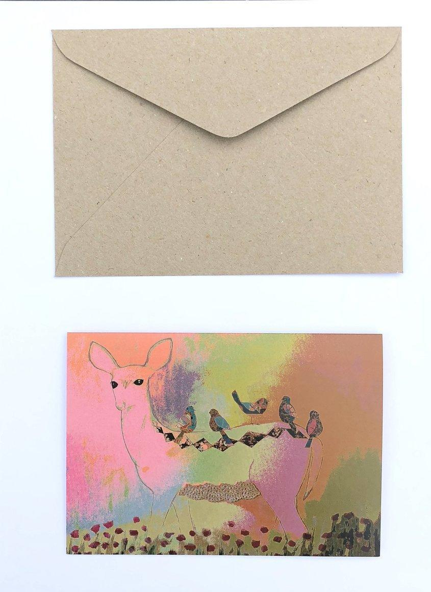 Deer 100% Recycled Greeting Card | Trada Marketplace