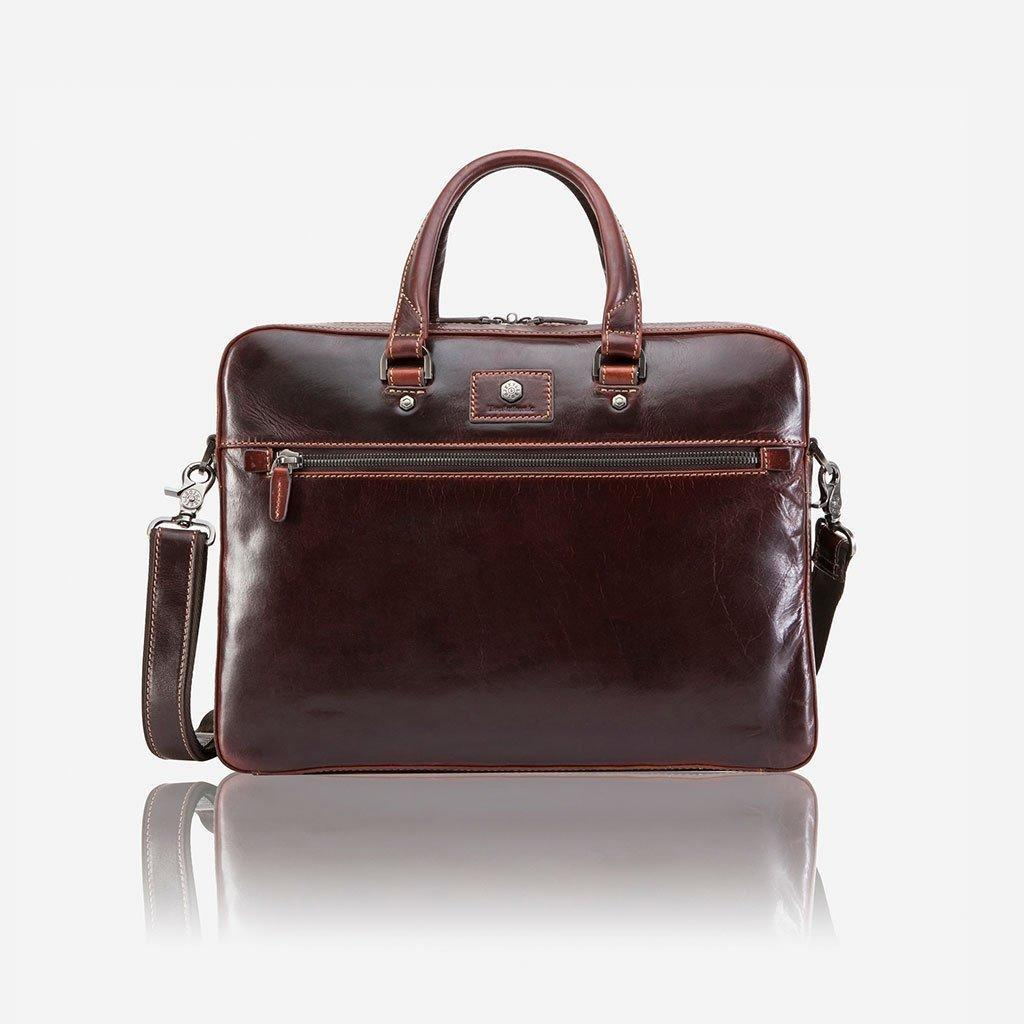 Oxford Slim Zip Top Briefcase Tobacco | Trada Marketplace