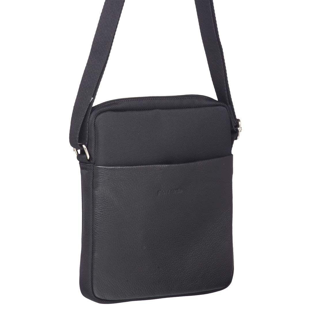 Pierre Cardin Italian Leather/Ballistic Nylon Cross-Body Bag   Trada Marketplace