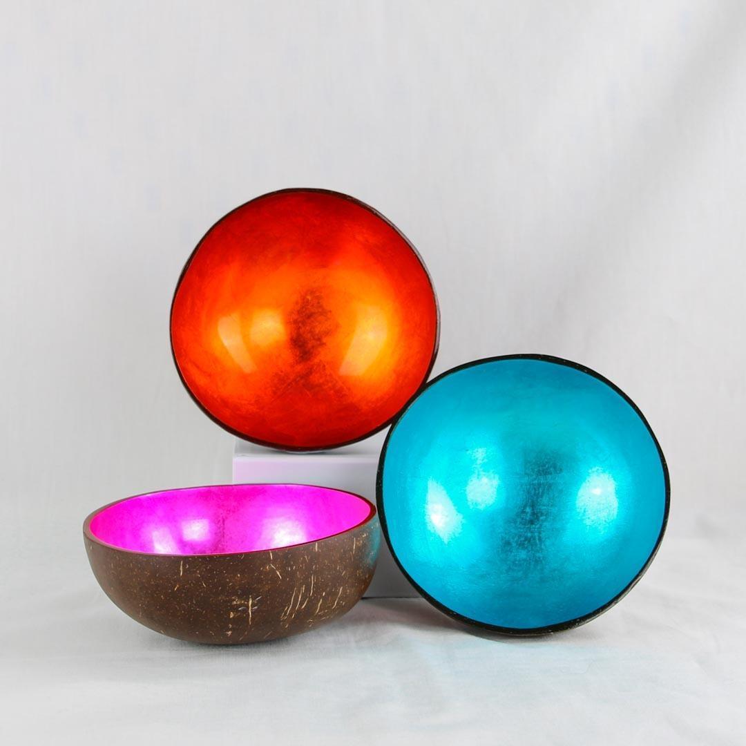 Coconut Bowl Coloured - Set of 2   Trada Marketplace