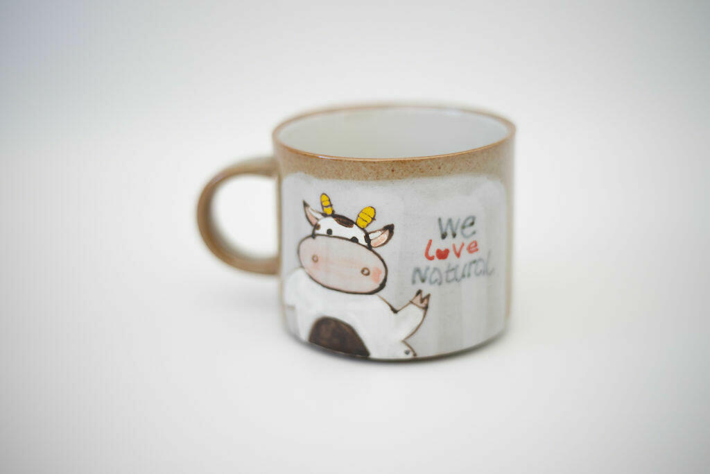 We Love Natural Mug- Cow   Trada Marketplace