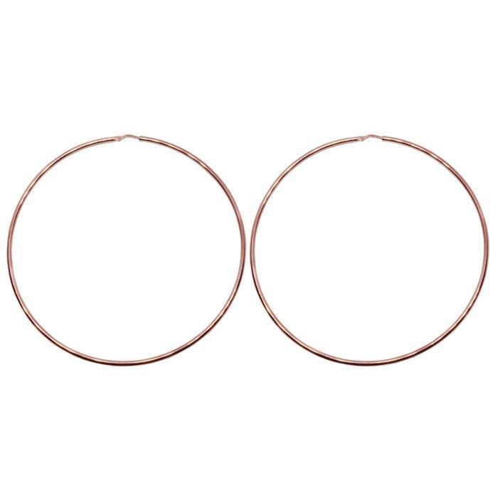 80mm Sterling Silver Gypsy Hoop Earrings - Silver, Gold and Rose Gold  | Trada Marketplace