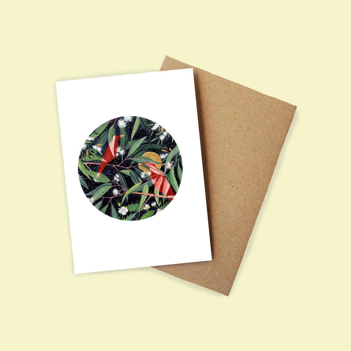 Greeting Card - Eucalyptus to the Moon | Trada Marketplace