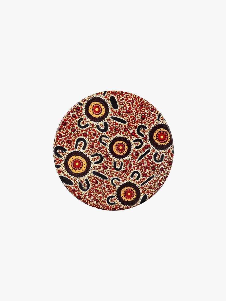 Aboriginal Bush Tucker Ceramic Coaster | Trada Marketplace