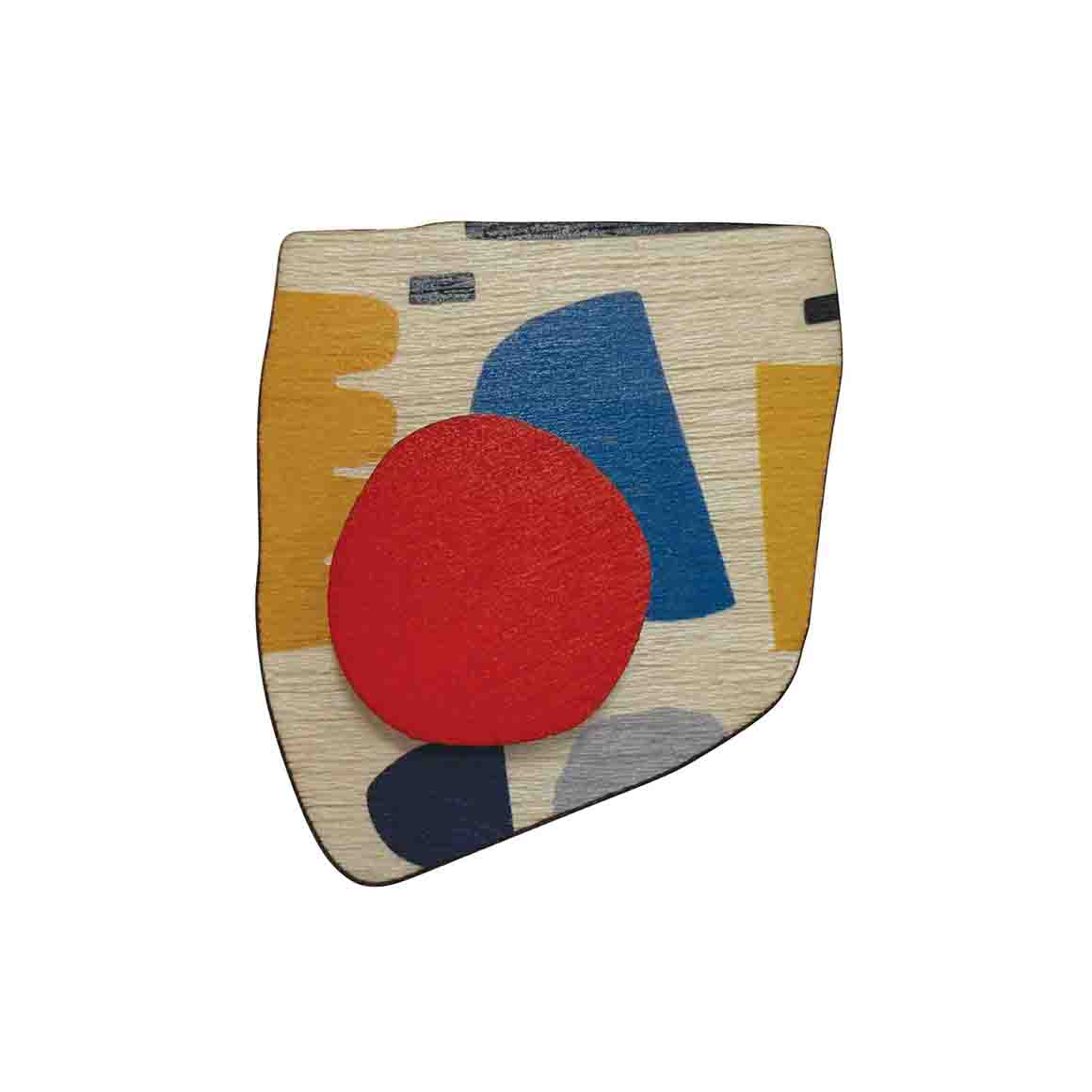 Abstract brooch with red spot   Trada Marketplace